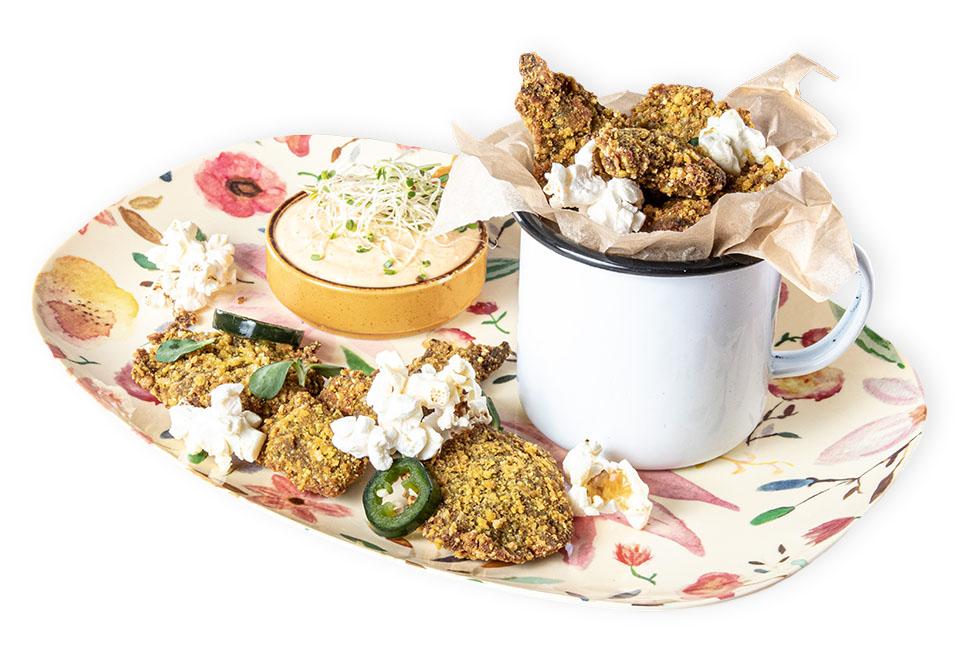 Hoax Vegan & Awesome -ravintolan annos Popcorn chick'n